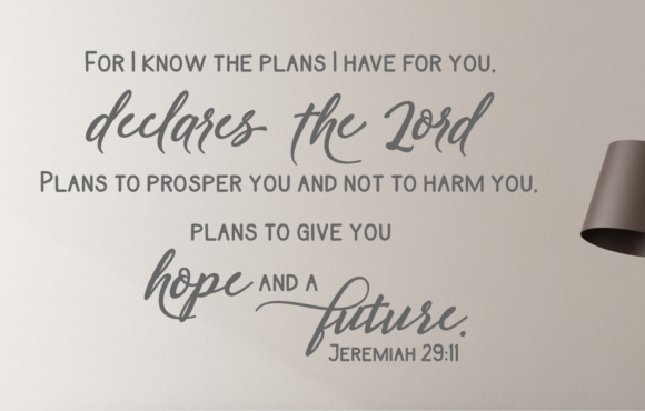 Jeremiah 29:11 Wall Decal