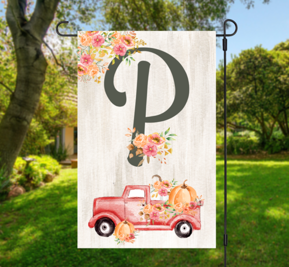 Vintage Harvest Truck Fall Garden Flag