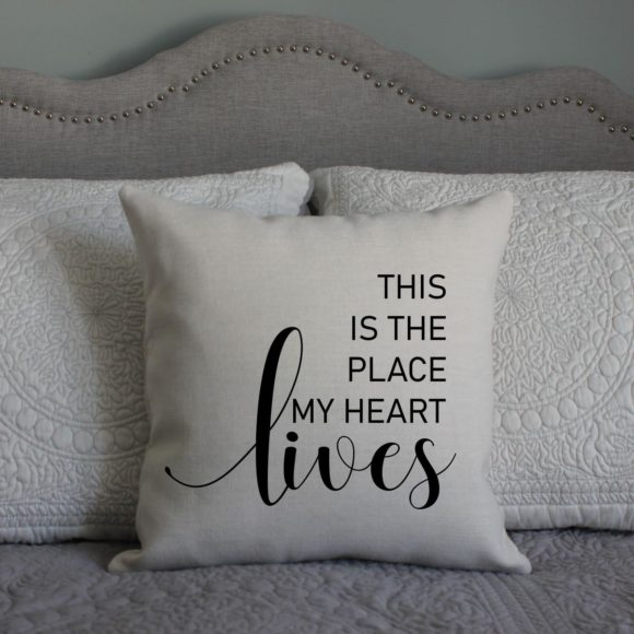 This Is The Place My Heart Lives Pillow