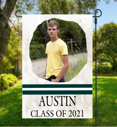 Personalized Graduation Garden Flag